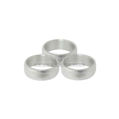 Slot Lock Rings Alluminio - Argento