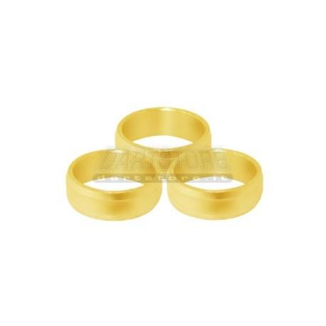 Slot Lock Rings Alluminio - Oro