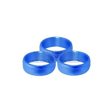Slot Lock Rings Alluminio - Blu