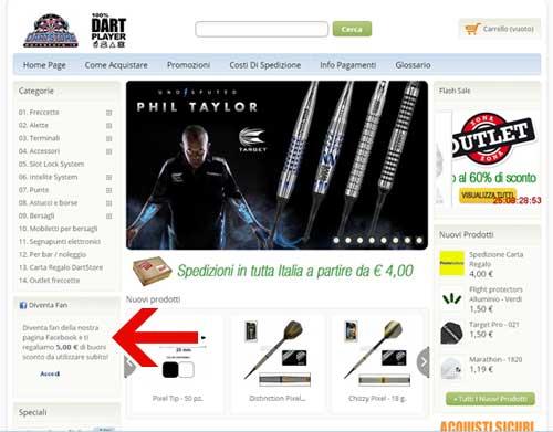 DartStore.it su Facebook