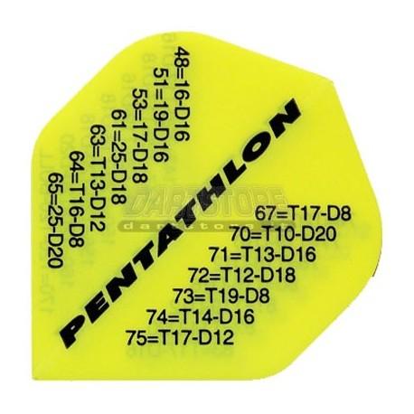 Alette per freccette PenTathlon - Giallo fluo con chiusure Pentathlon