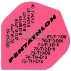 Alette per freccette PenTathlon - Rosa fluo con chiusure Pentathlon