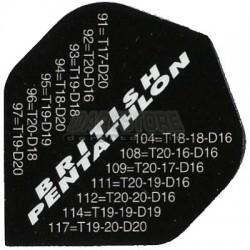 Alette per freccette PenTathlon - Nere con chiusure Pentathlon