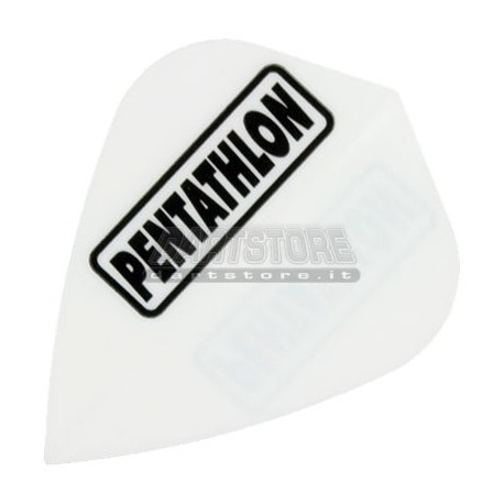 Alette per freccette PenTathlon Kite - Bianche Pentathlon