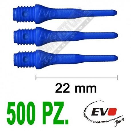 punte in plastica per freccette soft darts Evo Originali - 500 pz. - Blu Evolution