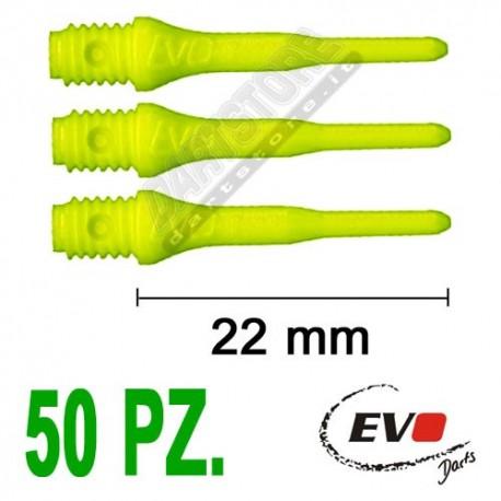 punte in plastica per freccette soft darts Evo Originali - 50 pz. - Gialle fluo Evolution