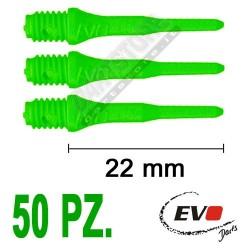 punte in plastica per freccette soft darts Evo Originali - 50 pz. - Verdi fluo Evolution