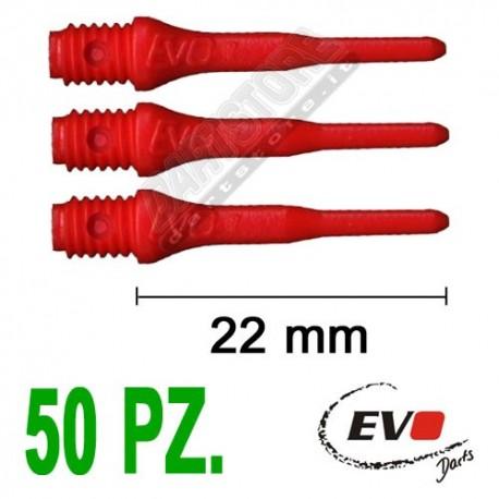 punte in plastica per freccette soft darts Evo Originali - 50 pz. - Rosse Evolution