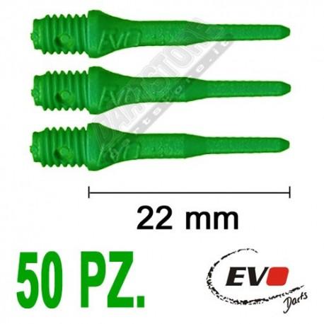punte in plastica per freccette soft darts Evo Originali - 50 pz. - Verdi Evolution