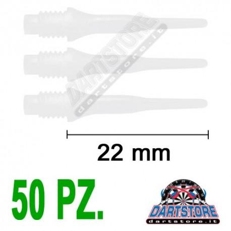 punte in plastica per freccette soft darts Evo Replica - 50 pz. - Bianche DartStore.it