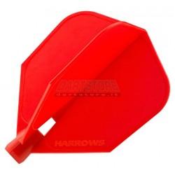Alette per freccette Alette Clic Standard - rosse Harrows Darts