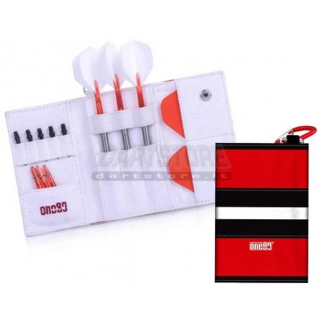 Astuccio per freccette Happy Dart Wallet - Rosso / Nero / Bianco One80 Darts