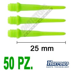 punte in plastica per freccette soft darts Pro Tips - 50 pz. - Verdi Harrows Darts