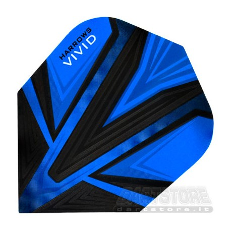 Alette per freccette Vivid - Blu Harrows Darts