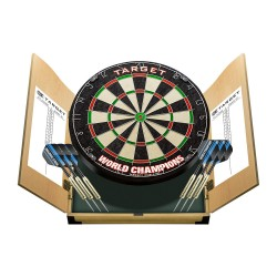 Bersaglio freccette steel darts World Champions Home Cabinet Set Target Darts