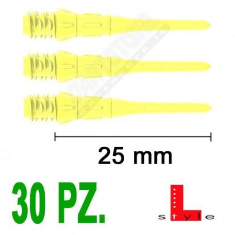 punte in plastica per freccette soft darts Premium Lippoint - 30 pz. - Gialle L-Style