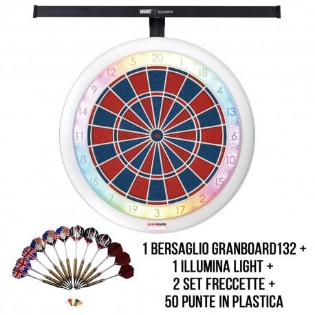 Kit Let's Play SoftDarts - GranBoard132 con Illumina Light DartStore.it freccette soft darts