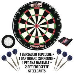 Bersaglio freccette steel darts Kit Let's Play Darts - base all inclusive DartStore.it