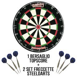 Bersaglio freccette steel darts Kit Let's Play Darts - base DartStore.it