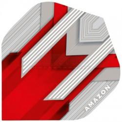 Alette per freccette Amazon Silver - Rosse Pentathlon