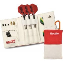 Astuccio per freccette Happy Dart Wallet - Bianco / Rosso One80 Darts
