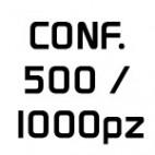 Conf. 500 - 1000 pz.