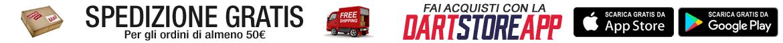 Spedizione gratuita freccette - Scarica la App DartStore.it